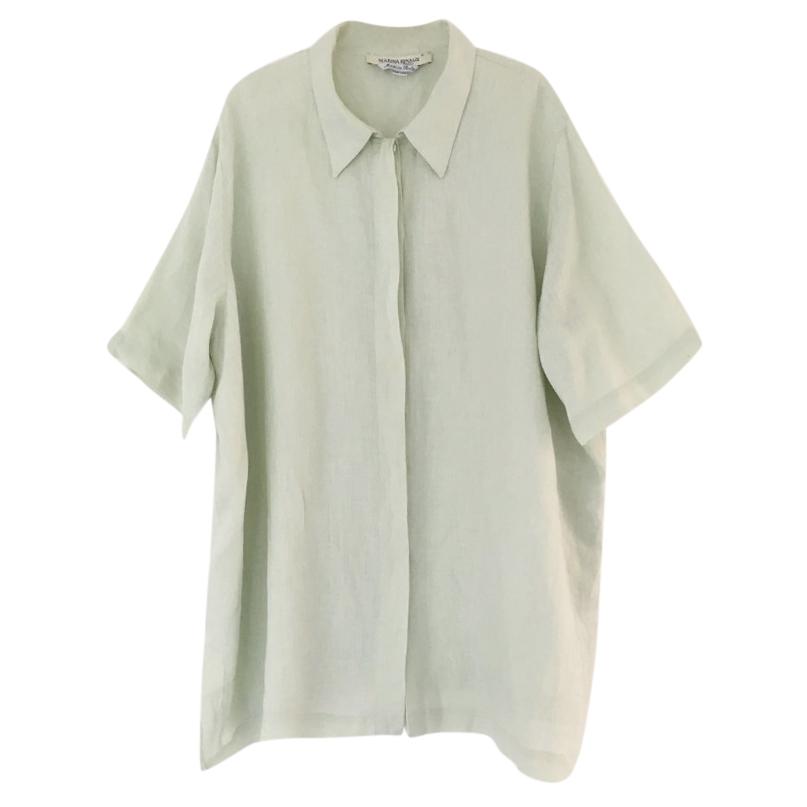 f3ab6c59939 Marina Rinaldi Pale Green Oversized Linen Shirt Dress