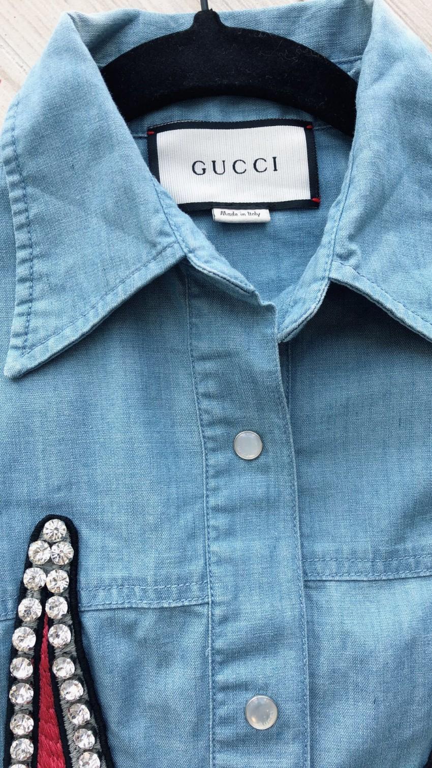 31cfa064f Gucci Bugs Bunny Embellished Denim Shirt | HEWI London