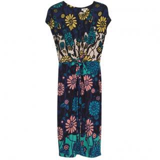 Issa printed sleeveless dress S