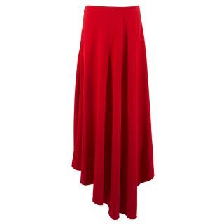 Marni Red Asymmetric Skirt