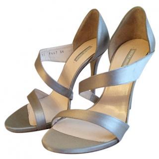 Giorgio Armani Silver Sandals
