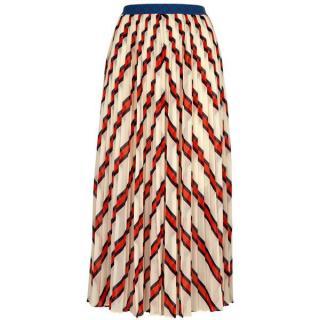 By Marlene Birger stripe chiffon skirt