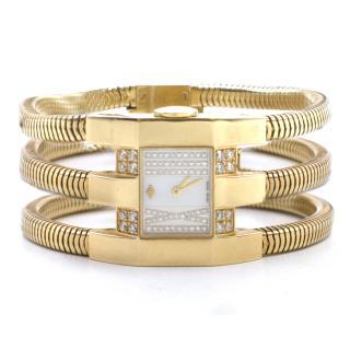 Van Cleef & Arpels 18k Yellow Gold Diamond Watch