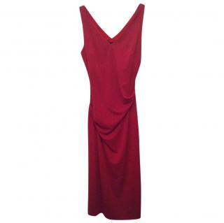 Nicolle Miller draped red dress