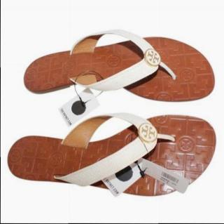 Tory Burch Thora Tumbled Leather Sandals