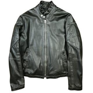 Armani Jeans Faux Leather Biker Jacket