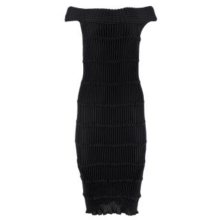 Valentino Bodycon Knit Bardot Dress