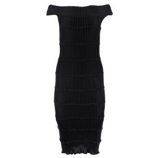 Valentino Bodycon Knit Bardot Dress