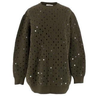 Givenchy Cashmere Wool & Silk Sequinned Jumper