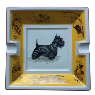 Hermes 'scottish terrier' ashtray