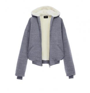Fear of God Grey Hooded Jacket