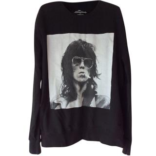 Keith Richard's sweatshirt official Rolling Stones memorabilia