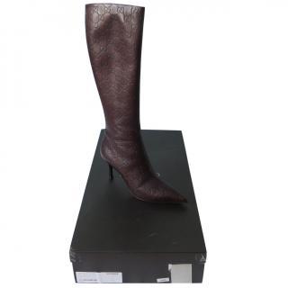 Gucci Guccissima Brown Boots