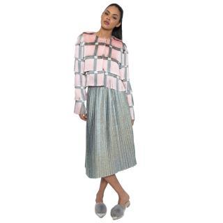 Marco de Vincenzo Pleated Lurex Skirt