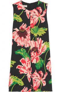 Stella McCartney Floral Print Crepe Dress