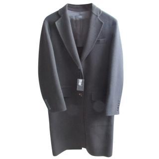 Joseph black double face wool simo coat