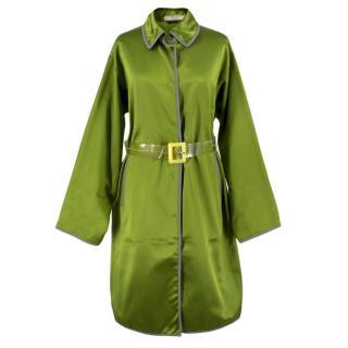 Prada Belted Silk Jacket