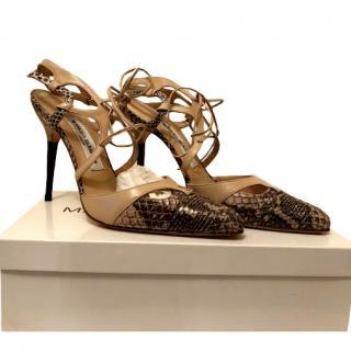 Manolo Blahnik Watersnake Sandals