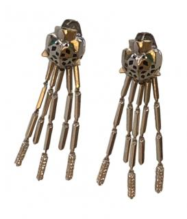 Bespoke 18k Gold Panther Earrings