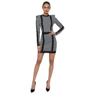Balmain Harlequin Print Mini Dress