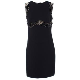 Prada Embellished Wool & Silk Dress