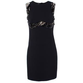 Prada Embellished Wool & Silk Dress
