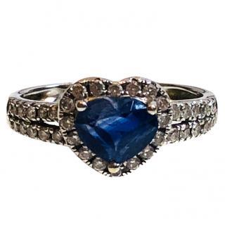 Bespoke Sapphire & Diamond Heart Ring