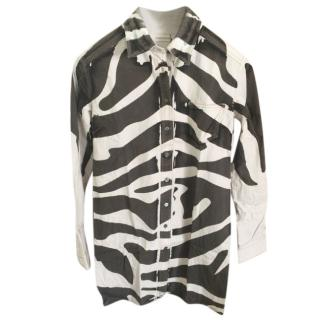 Balmain printed shirt