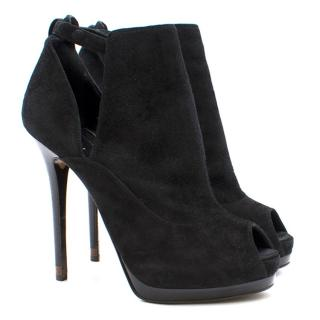 Fendi Suede Cut Out Heeled Boots