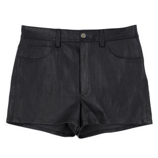 Helmut Lang Leather Shorts