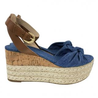 Michael Michael Kors Denim Wedges