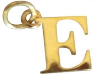 Thomas Sabo gold plated E charm