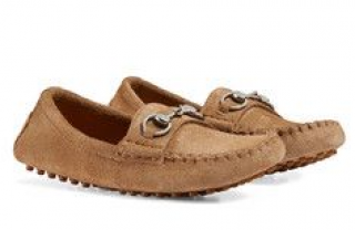 Gucci boy's suede horsebit loafers