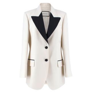 Gucci Silk Cream Blazer