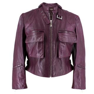 Mulberry Leather Purple Jacket