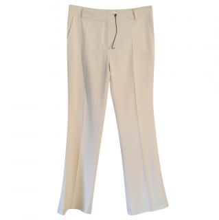 Atea Oceanie cream wide leg trousers