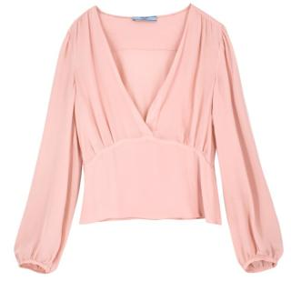 Prada Sheer Pink Blouse