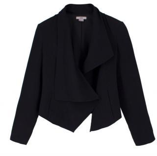 Helmut Lang Black Cropped Tuxedo Blazer