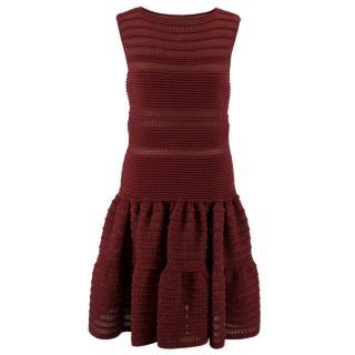Alaia Burgundy Knit Dress