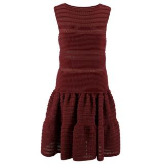Alaia Burgundy Knit Dress