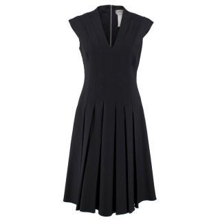 Sportmax Wool Black Pleated Dress
