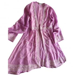 Juliet Dunn Lilac cotton cover up