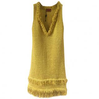 Missoni yellow Gold Glitter Dress