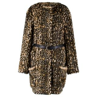 Nina Ricci Leopard-Print Faux-Fur Jacket