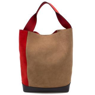 Marni Chilli & Herb Pod Suede Bag