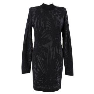 Balmain Printed Black Mini Dress