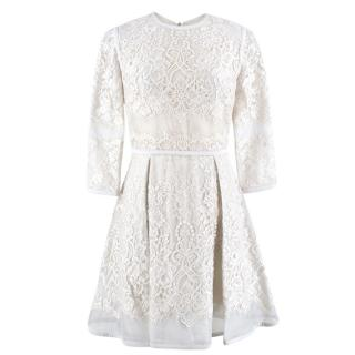 Elie Saab Silk-Blend Lace A-Line Dress