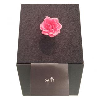 Salet Resin Pink Rose Ring