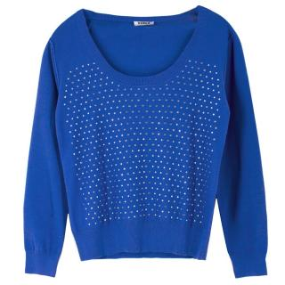 Sonia by Sonia Rykiel Embellished Scoop Neck Sweater