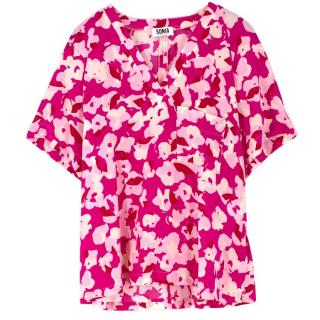 Sonia by Sonia Rykiel Pink Floral Print Blouse
